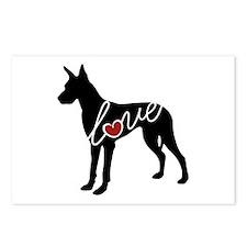 Great Dane Love Postcards (Package of 8)