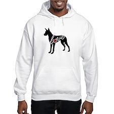 Great Dane Love Hoodie Sweatshirt