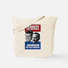 Cute John f kennedy lyndon johnson 1960 election demo Tote Bag