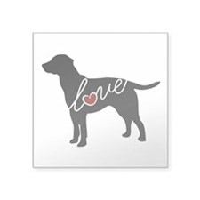 "Labrador Love Square Sticker 3"" x 3"""