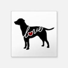 """Labrador Love Square Sticker 3"""" x 3"""""""