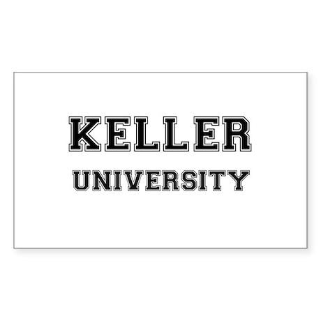 KELLER UNIVERSITY Rectangle Sticker