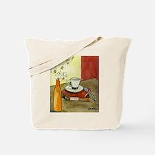 Caffeine and Books Tote Bag