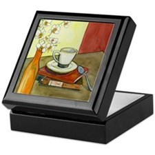 Caffeine and Books Keepsake Box