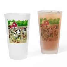 Cute Pig and chick Drinking Glass
