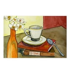 Caffeine and Books Postcards (Package of 8)