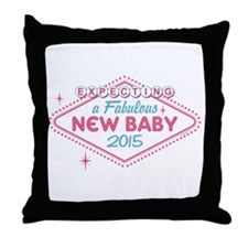 Las Vegas Expecting 2015 Throw Pillow