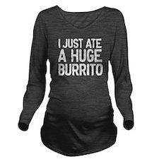 Maternity Burrito Long Sleeve Maternity T-Shirt