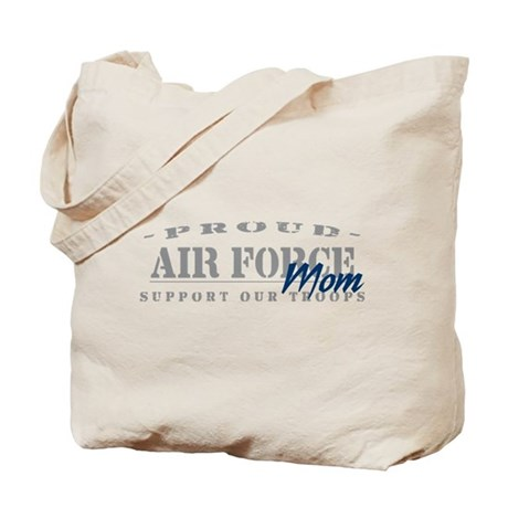 Proud Air Force Mom (Blue) Tote Bag