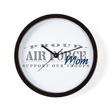 Proud Air Force Mom (Blue) Wall Clock