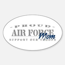 Proud Air Force Mom (Blue) Oval Decal