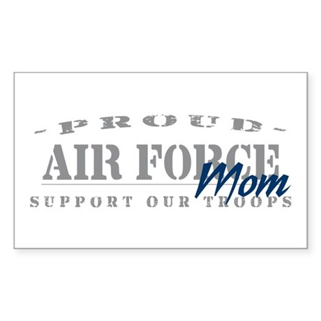 Proud Air Force Mom (Blue) Rectangle Sticker