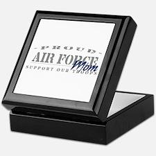 Proud Air Force Mom (Blue) Keepsake Box
