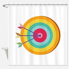 Bullseye_Base Shower Curtain
