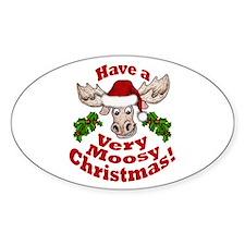 Moosy Christmas Decal