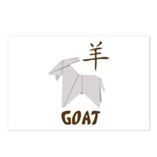 Chinese Goat Symbol Postcards (Package of 8)