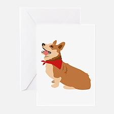 Corgi Dog Greeting Cards