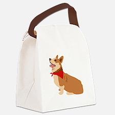 Corgi Dog Canvas Lunch Bag