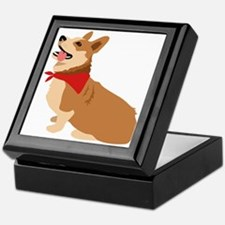 Corgi Dog Keepsake Box