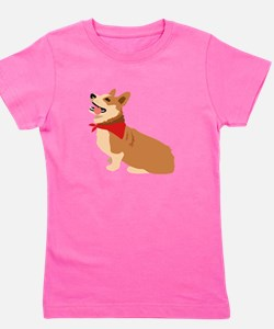 Corgi Dog Girl's Tee