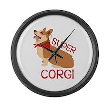 Super Corgi Large Wall Clock