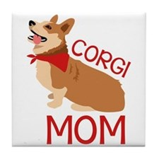 Corgi Mom Tile Coaster