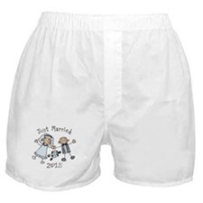 Stick Just Married 2015 Boxer Shorts