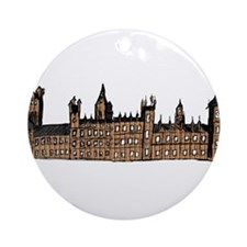 Graphical Sketch Houses of Parliament Ornament (Ro