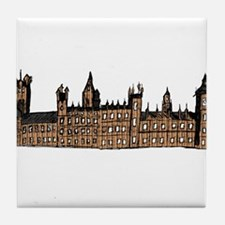 Graphical Sketch Houses of Parliament Tile Coaster