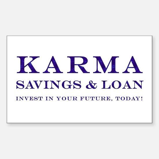 Karma Savings Loan Rectangle Decal