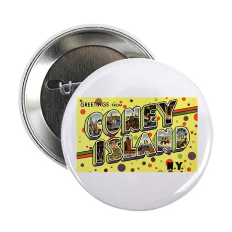 "Greetings from Coney Island 2.25"" Button (100 pack"