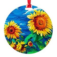 Sunflowers Painting Ornament
