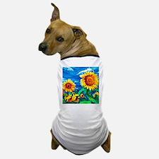 Sunflowers Painting Dog T-Shirt