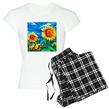 Sunflowers Painting Pajamas