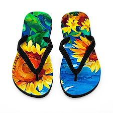 Sunflowers Painting Flip Flops