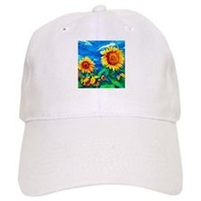 Sunflowers Painting Baseball Baseball Cap