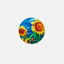 Sunflowers Painting Mini Button (100 pack)