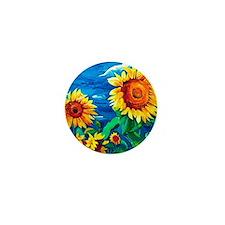Sunflowers Painting Mini Button