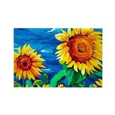 Sunflowers Painting Magnets
