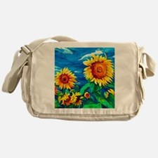Sunflowers Painting Messenger Bag
