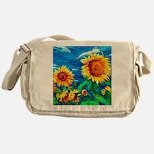 Sunflowers Painting Messenger Bag