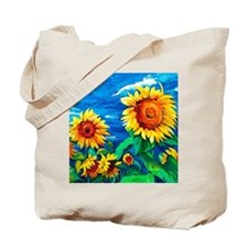 Sunflowers Painting Tote Bag