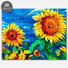 Sunflowers Painting Puzzle