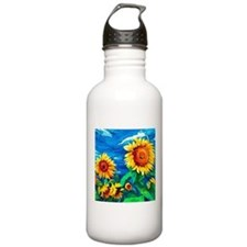 Sunflowers Painting Water Bottle