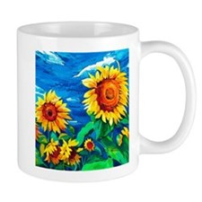 Sunflowers Painting Mugs