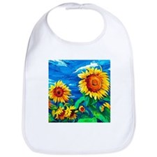 Sunflowers Painting Bib