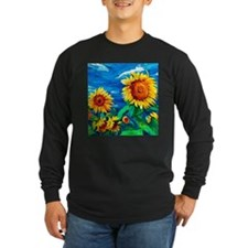 Sunflowers Painting Long Sleeve T-Shirt