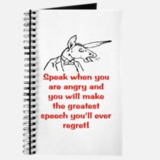 SPEAK WHEN ANGRY Journal