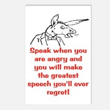 SPEAK WHEN ANGRY Postcards (Package of 8)