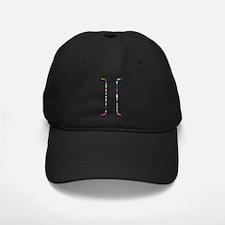 Rainbow Star Letter I Baseball Hat